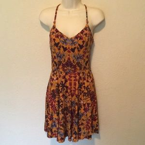 Dresses & Skirts - Mustard Floral Sundress with Adjustable Straps